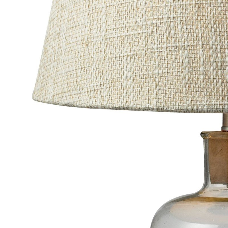 Dimond Lighting Clear Glass Bottle Table Lamp with Cork Neck with Philips Hue LED Bulb/Bridge (D137-HUE-B)
