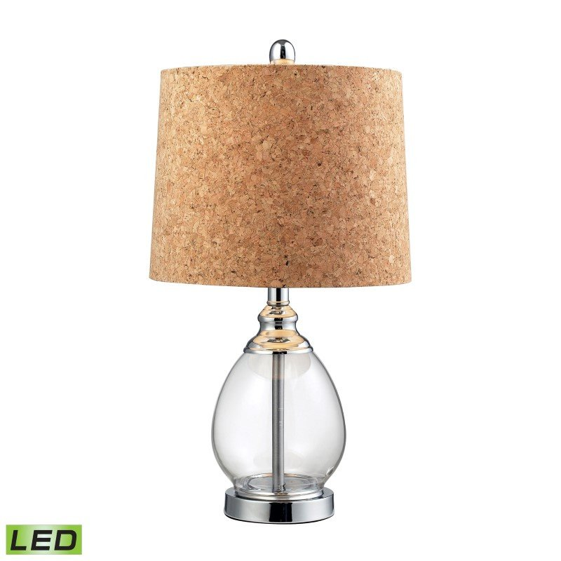 Dimond Lighting Clear Glass LED Table Lamp in Polished Chrome (D142-LED)