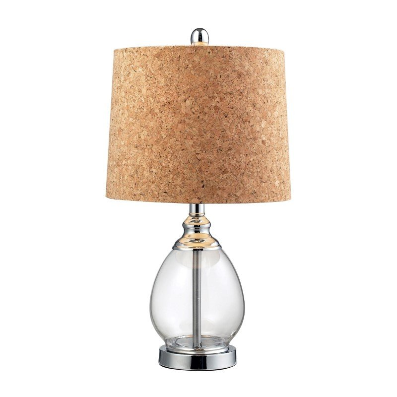 Dimond Lighting Clear Glass Table Lamp in Polished Chrome (D142)
