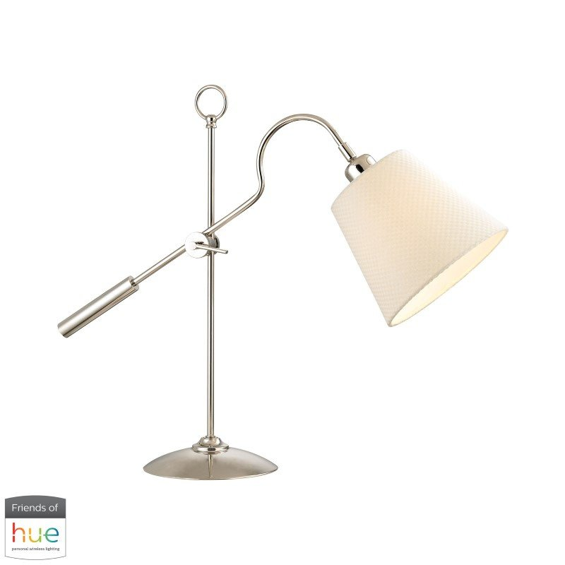 Dimond Lighting Colonial Shaded Desk Lamp with Philips Hue LED Bulb/Dimmer (D2821-HUE-D)