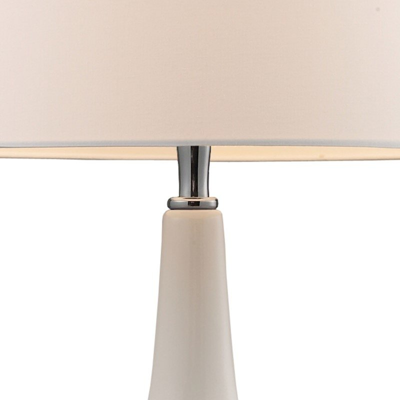 Dimond Lighting Continuum Table Lamp in White and Chrome with Philips Hue LED Bulb/Dimmer (3925/1-HUE-D)