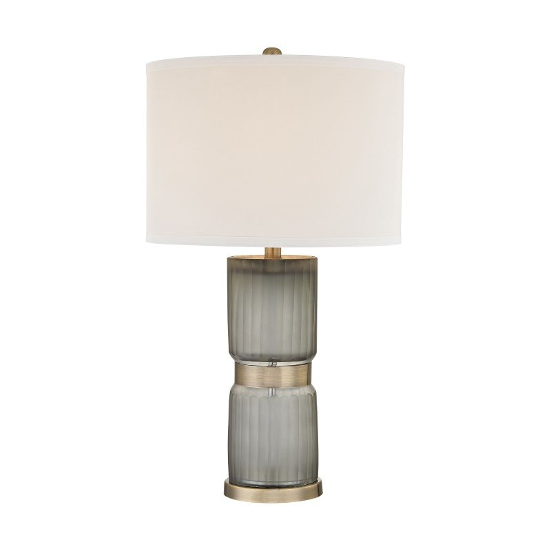 Dimond Lighting Cotillion 1 Light Table Lamp in Grey And Antique Brass ( D2911)