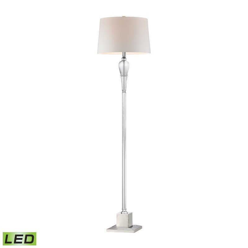 Dimond Lighting Crystal Column LED Floor Lamp With Chrome Orb (D2841-LED)