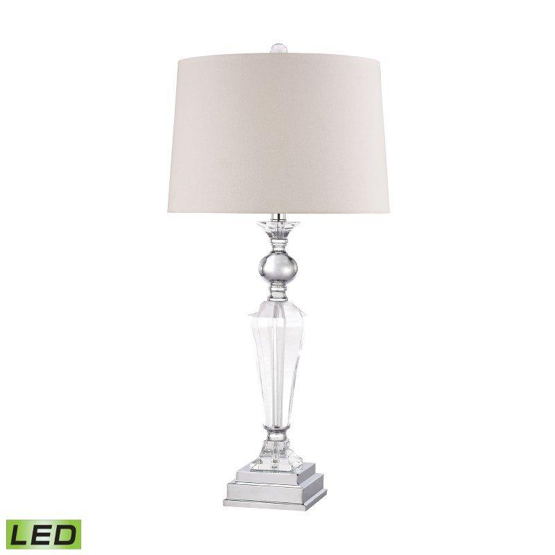 Dimond Lighting Crystal Column LED Lamp With Chrome Orb (D2840-LED)
