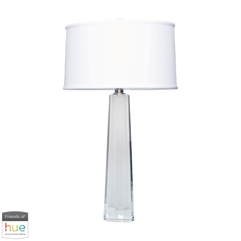 Dimond Lighting Crystal Faceted Column Table Lamp with Philips Hue LED Bulb/Bridge (729-HUE-B)