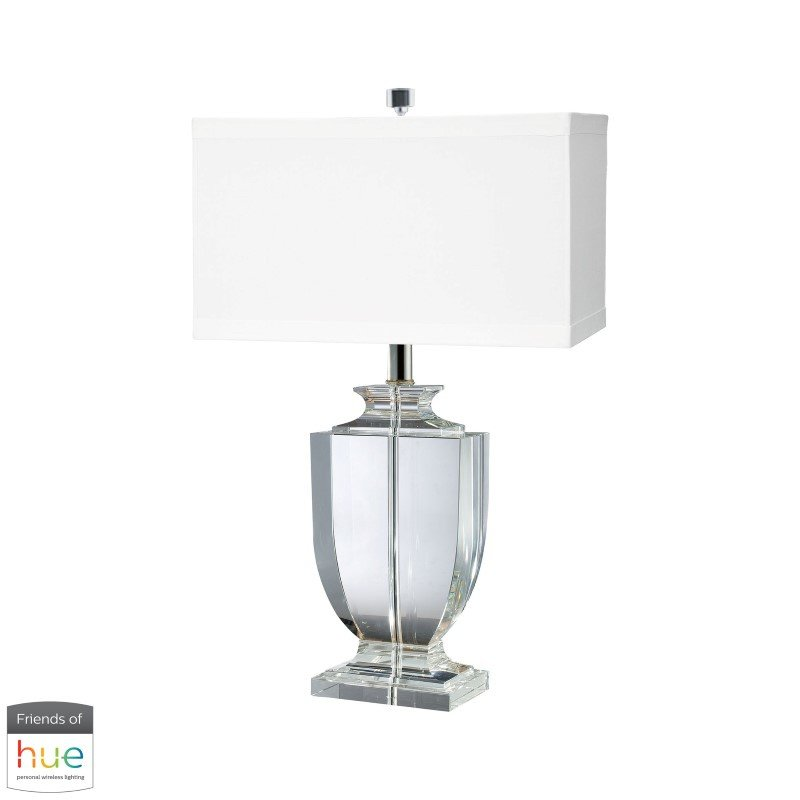 Dimond Lighting Crystal Rectangular Urn Table Lamp with Philips Hue LED Bulb/Bridge (722-HUE-B)