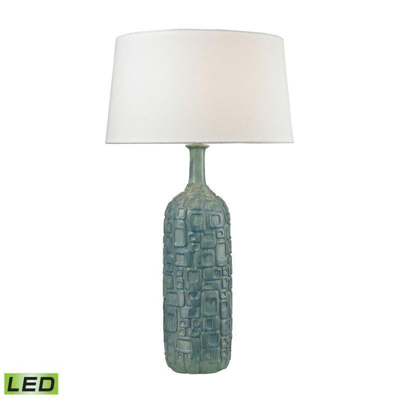 Dimond Lighting Cubist Ceramic LED Bottle Lamp in Blue (D2612B-LED)