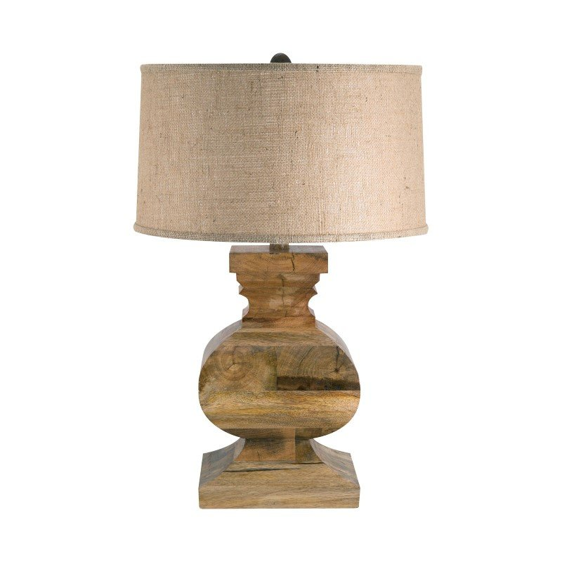 Dimond Lighting Curved Block Solid Wood Table Lamp ( 807)