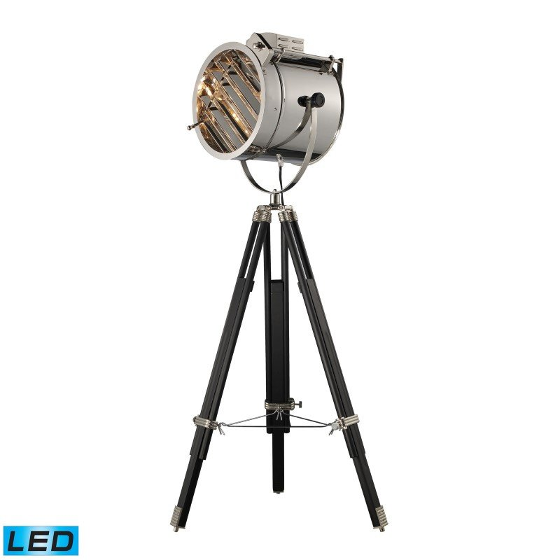 Dimond Lighting Curzon Adjustable LED Floor Lamp in Chrome and Black (D2126-LED)