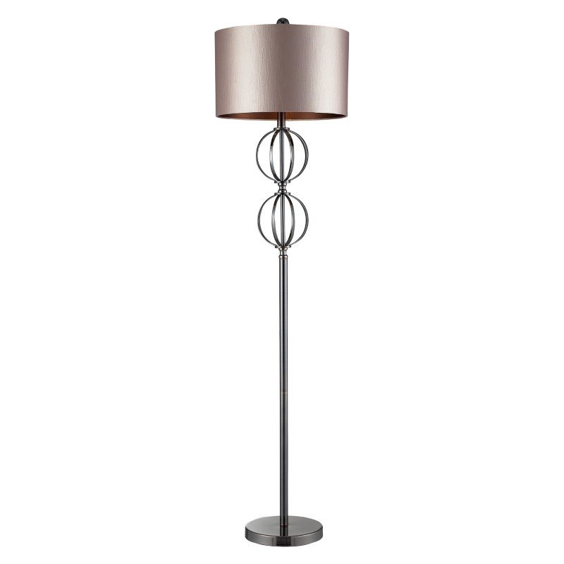 Dimond Lighting Danforth Floor Lamp In Coffee Plating With Champagne Shade (D2223)