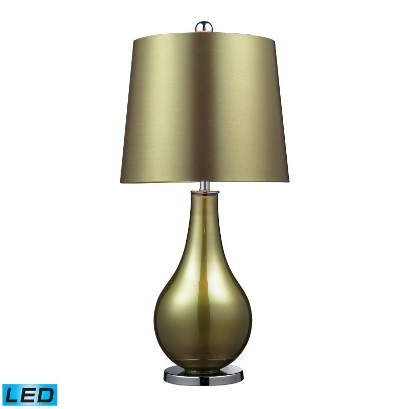 Dimond Lighting Dayton LED Table Lamp In Sigma Green And Polished Nickel (D2225-LED)