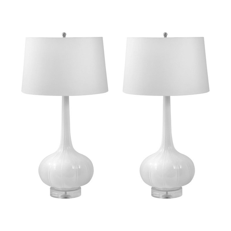 Dimond Lighting Del Mar Porcelain Table Lamps in White - Set of 2 ( 242/S2)