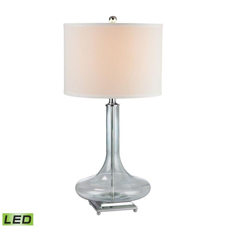 Dimond Lighting Discus Glass LED Table Lamp in Translucent Light Green (D2628-LED)