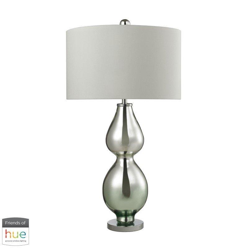 Dimond Lighting Double Gourd Table Lamp in Light Green Mercury with Philips Hue LED Bulb/Bridge (D2560-HUE-B)