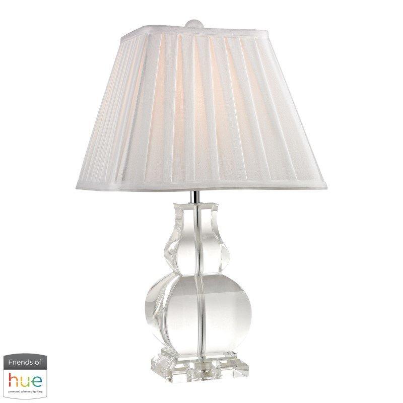 Dimond Lighting Downtown Solid Crystal Table Lamp with Philips Hue LED Bulb/Bridge (D2487-HUE-B)