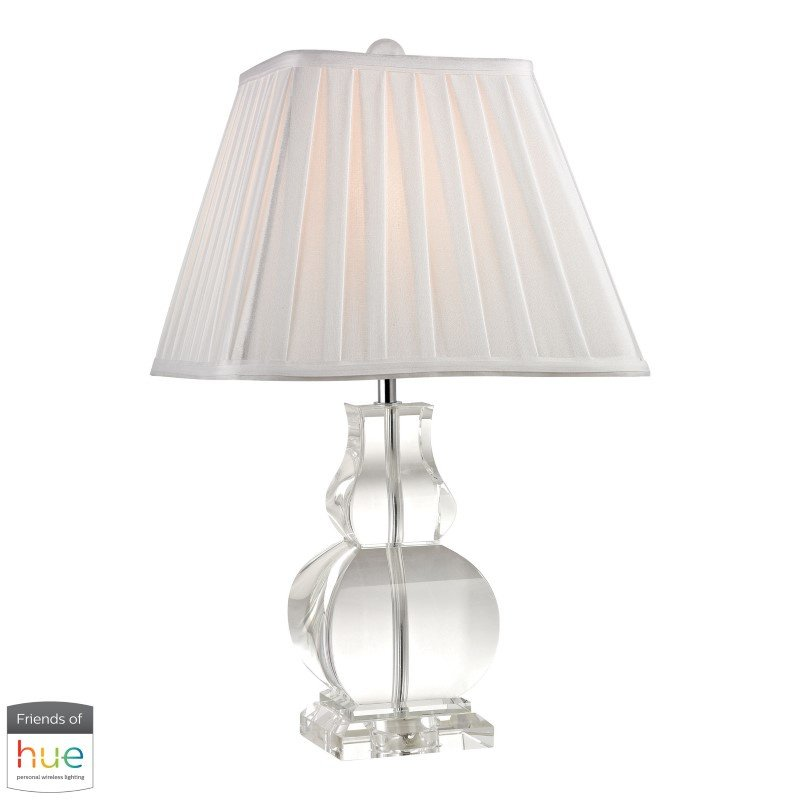 Dimond Lighting Downtown Solid Crystal Table Lamp with Philips Hue LED Bulb/Dimmer (D2487-HUE-D)