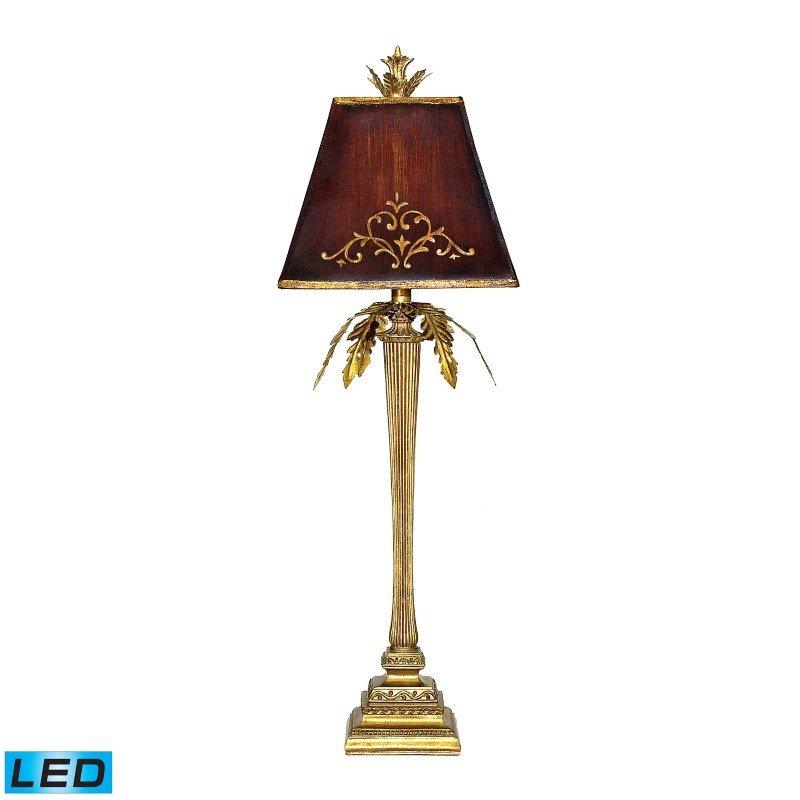 Dimond Lighting Draping Leaf LED Table Lamp in Gold Leaf (91-078-LED)