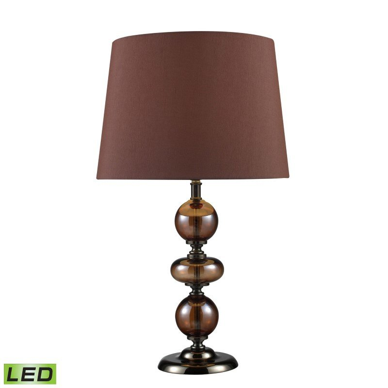 Dimond Lighting Dravos LED Table Lamp In Bronze And Coffee Plating With Chocolate Shade (D1606-LED)