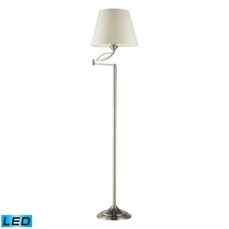 Dimond Lighting Elysburg 1 Light LED Floor Lamp In Satin Nickel (17047/1-LED)