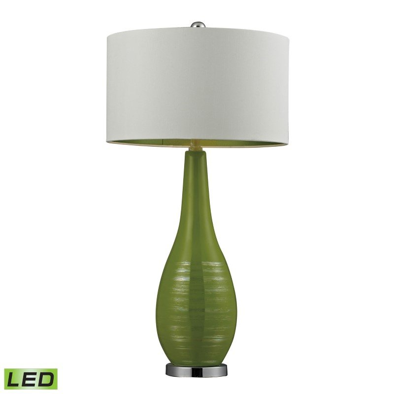 Dimond Lighting Etched Ceramic LED Table Lamp in Bright Green (D272-LED)