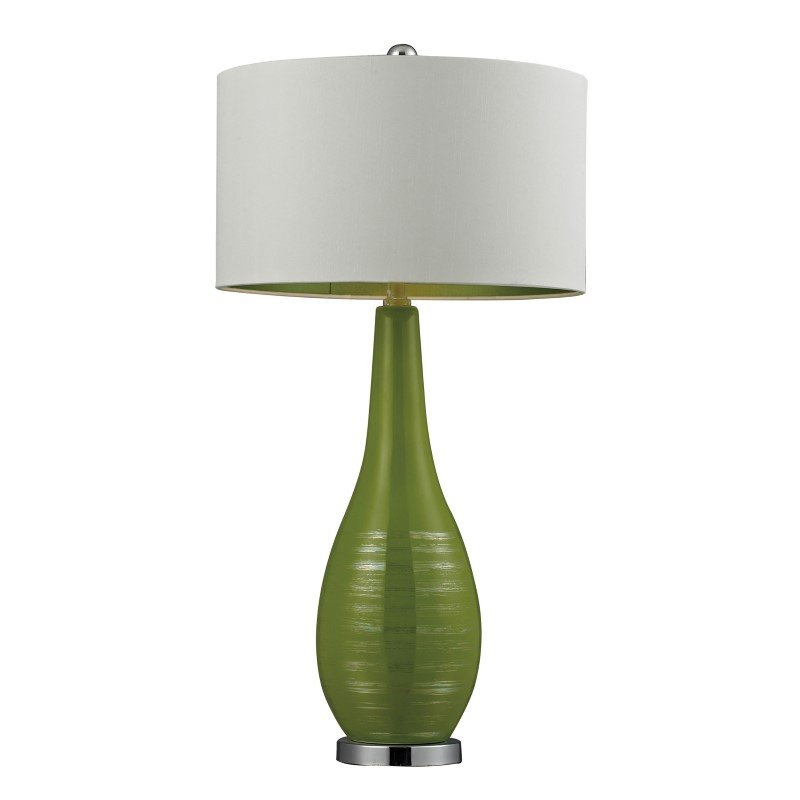 Dimond Lighting Etched Ceramic Table Lamp in Bright Green (D272)