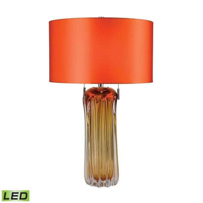 Dimond Lighting Ferrara Free Blown Glass LED Table Lamp in Amber (D2660-LED)