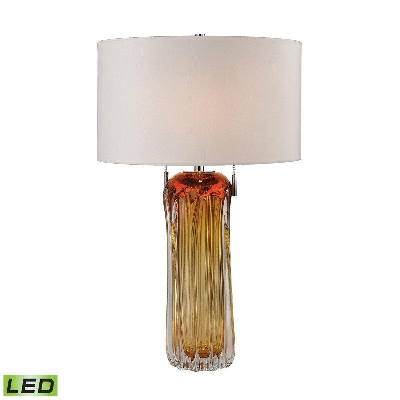 Dimond Lighting Ferrara Free Blown Glass LED Table Lamp in Amber (D2660W-LED)