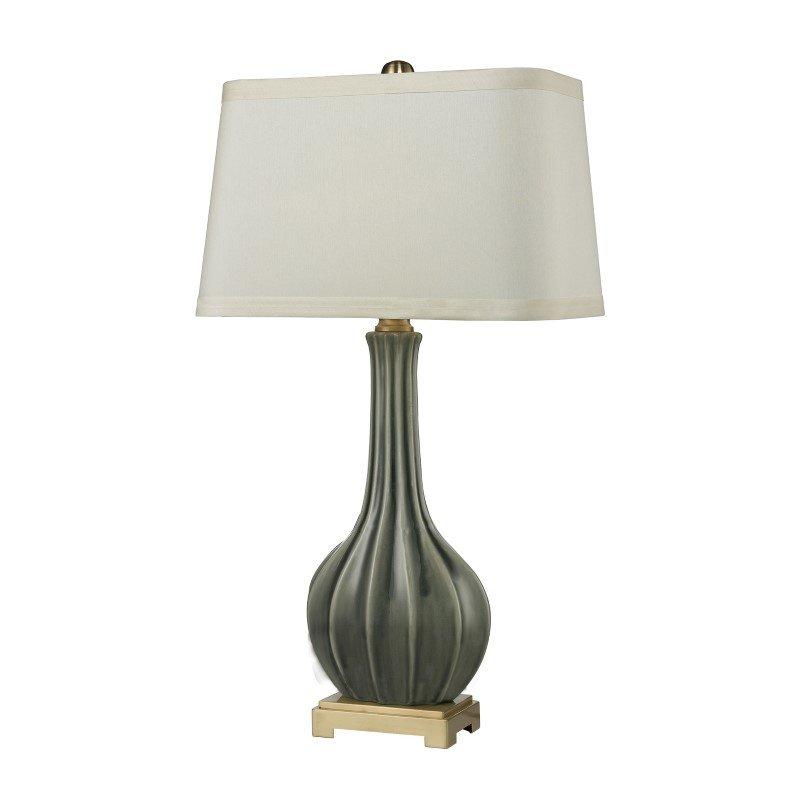 Dimond Lighting Fluted Ceramic Table Lamp in Grey Glaze (D2595)