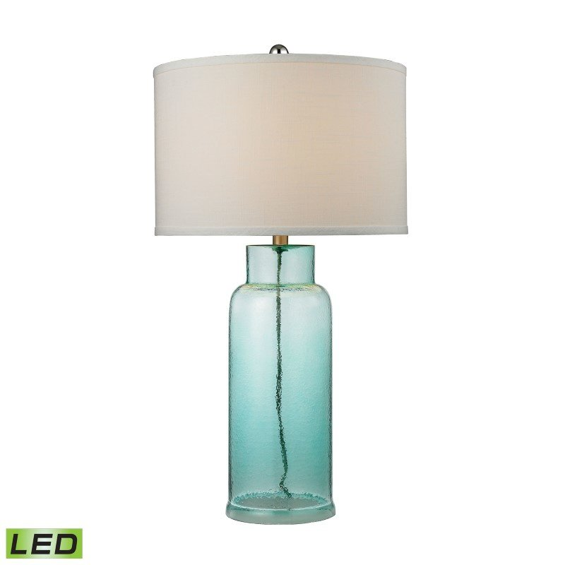 Dimond Lighting Glass Bottle LED Table Lamp in Seafoam Green (D2622-LED)