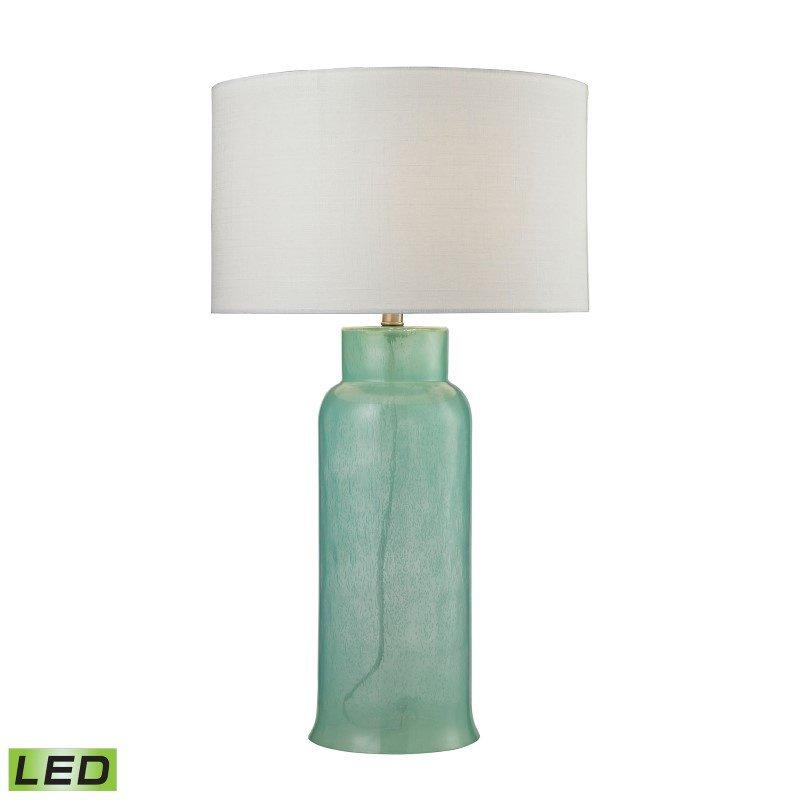 Dimond Lighting Glass Bottle LED Table Lamp In Seafoam Green (D2654-LED)