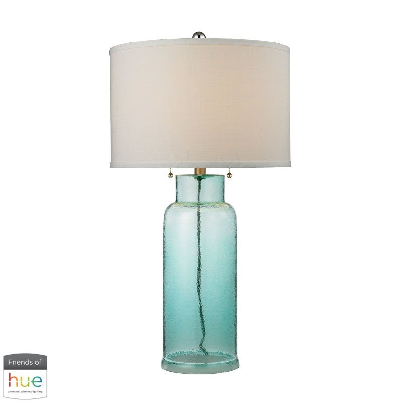 Dimond Lighting Glass Bottle Table Lamp in Seafoam Green with Philips Hue LED Bulb/Dimmer (D2622-HUE-D)