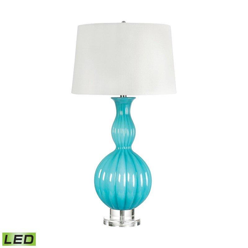 Dimond Lighting Glass Gourd LED Table Lamp in Powder Blue ( 283-LED)