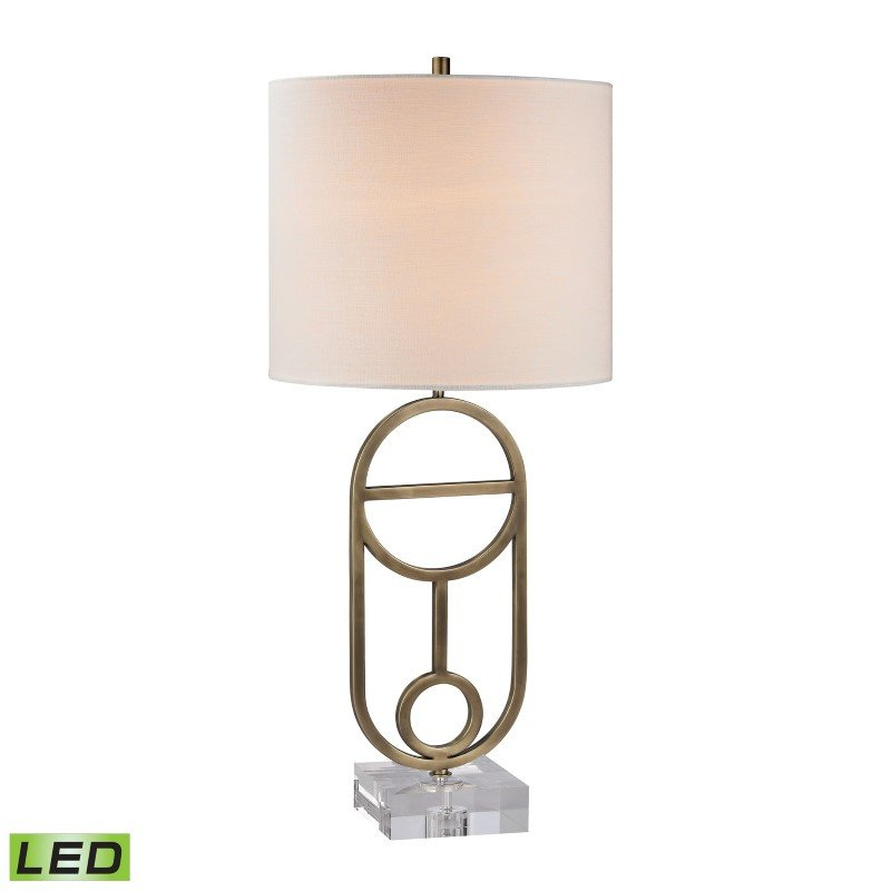 Dimond Lighting Gold Ryan LED Table Lamp in Antique Brass (D2587-LED)