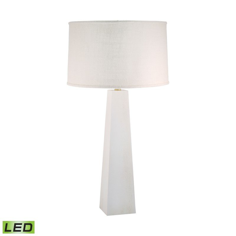Dimond Lighting Grand Pyramid LED Table Lamp in White Wash ( 555W-LED)