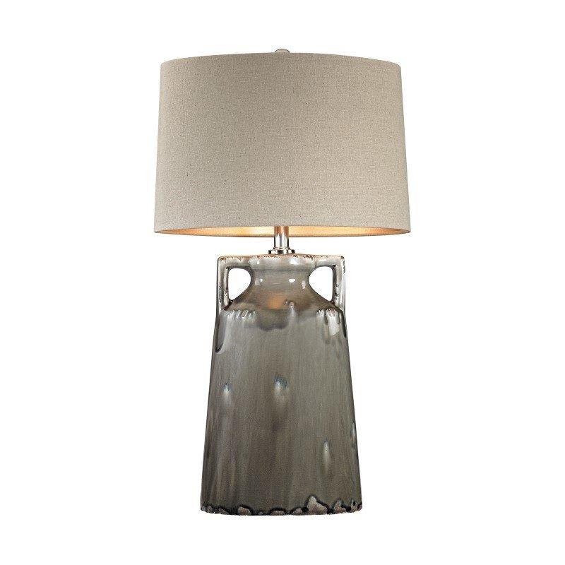 Dimond Lighting Grey Reaction Glaze Urn Lamp (D2806)