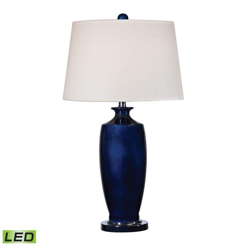 Dimond Lighting Halisham Ceramic LED Table Lamp in Navy Blue (D2524-LED)