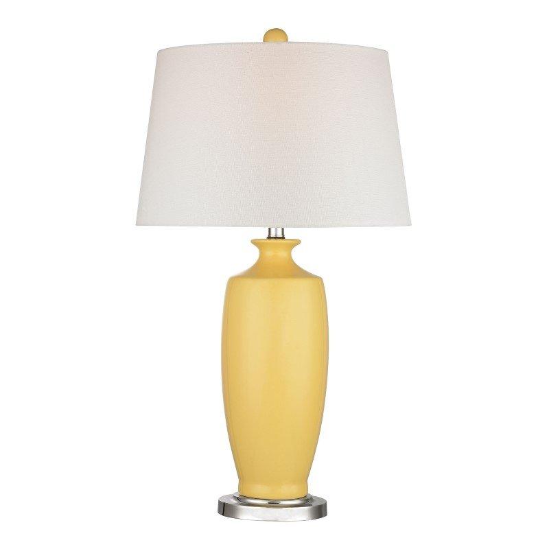 Dimond Lighting Halisham Ceramic Table Lamp in Sunshine Yellow (D2505)