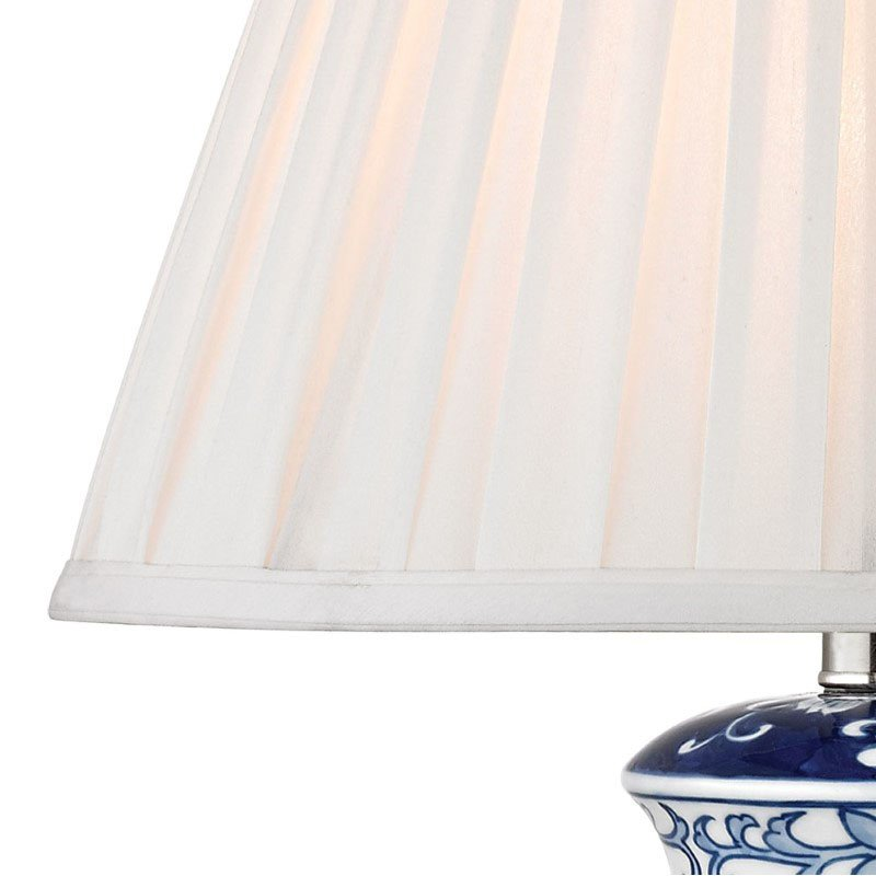 Dimond Lighting Hand Painted Ceramic Table Lamp in Blue/White with Acrylic Base with Philips Hue LED Bulb/Bridge (D2474-HUE-B)