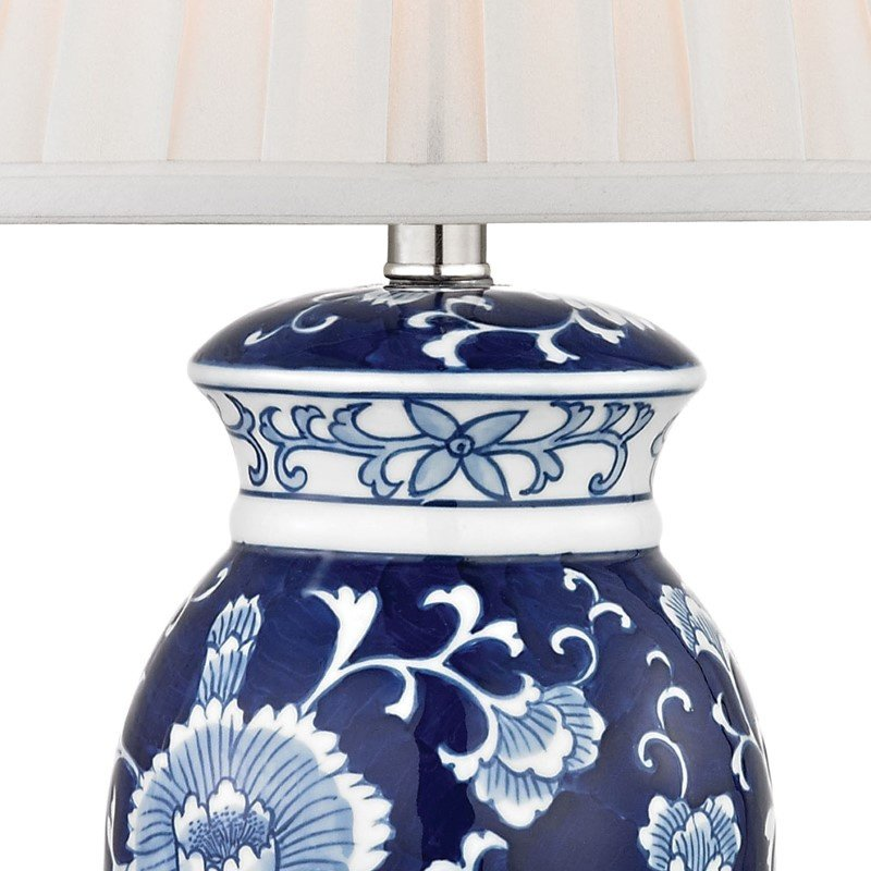 Dimond Lighting Hand Painted Ceramic Table Lamp in Blue/ White with Acrylic Base with Philips Hue LED Bulb/Dimmer (D2474-HUE-D)