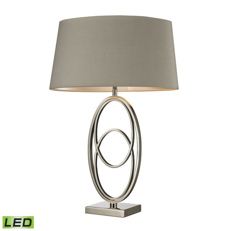 Dimond Lighting Hanoverville LED Table Lamp in Polished Nickel (D2415-LED)