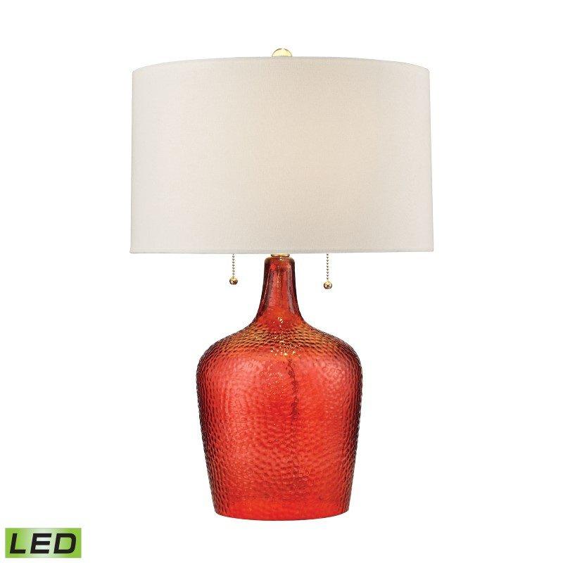 Dimond Lighting Hatteras Hammered Glass LED Table Lamp in Blood Orange (D2690-LED)