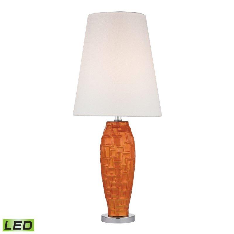 Dimond Lighting Hawick Ceramic LED Table Lamp in Tangerine Orange (D2507-LED)