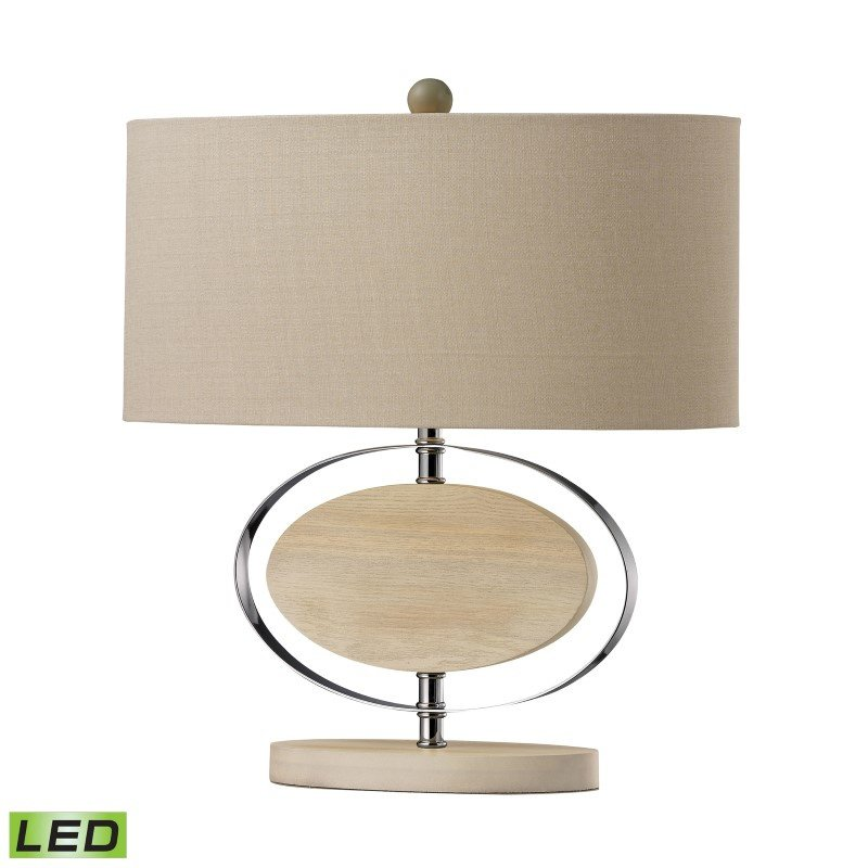 Dimond Lighting Hereford Bleached Wood LED Table Lamp in Chrome (D2296-LED)