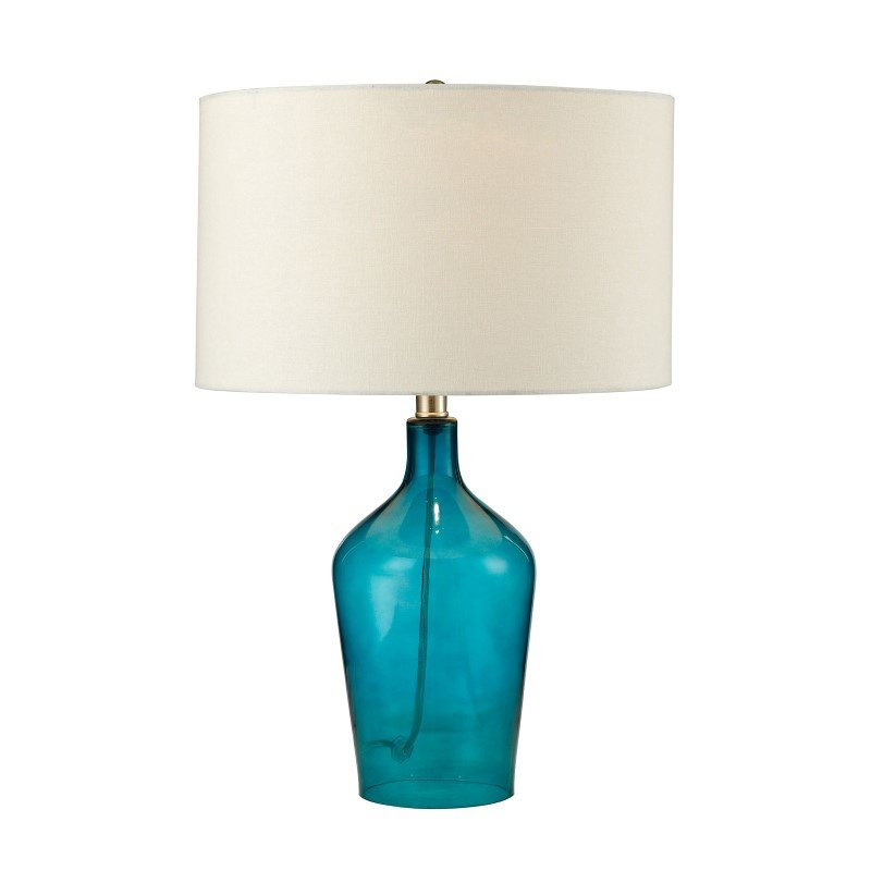 Dimond Lighting Hideaway Glass Table Lamp in Teal (D2696)