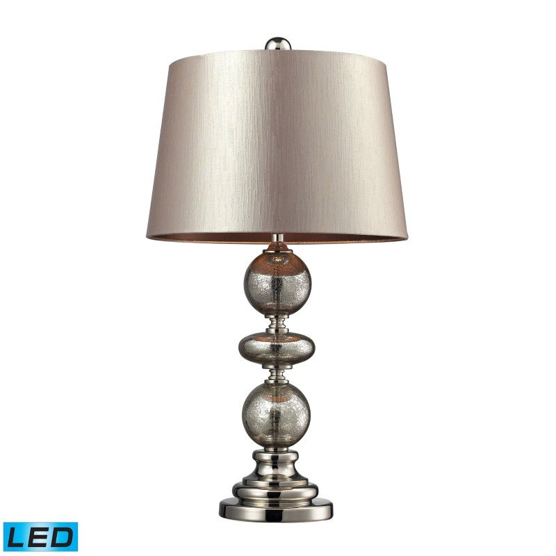 Dimond Lighting Hollis LED Table Lamp In Antique Mercury Glass And Polished Nickel (D2227-LED)