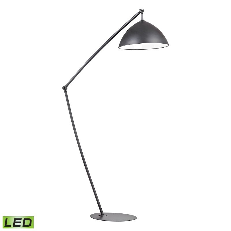 Dimond Lighting Industrial Elements Adjustable LED Floor Lamp in Matte Black (D2461-LED)