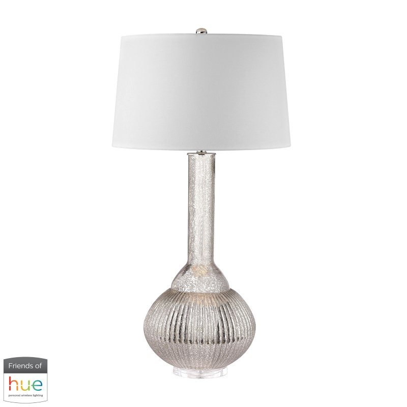 Dimond Lighting Juju Jar Lamp in Antique Mercury with Philips Hue LED Bulb/Dimmer (D2868-HUE-D)