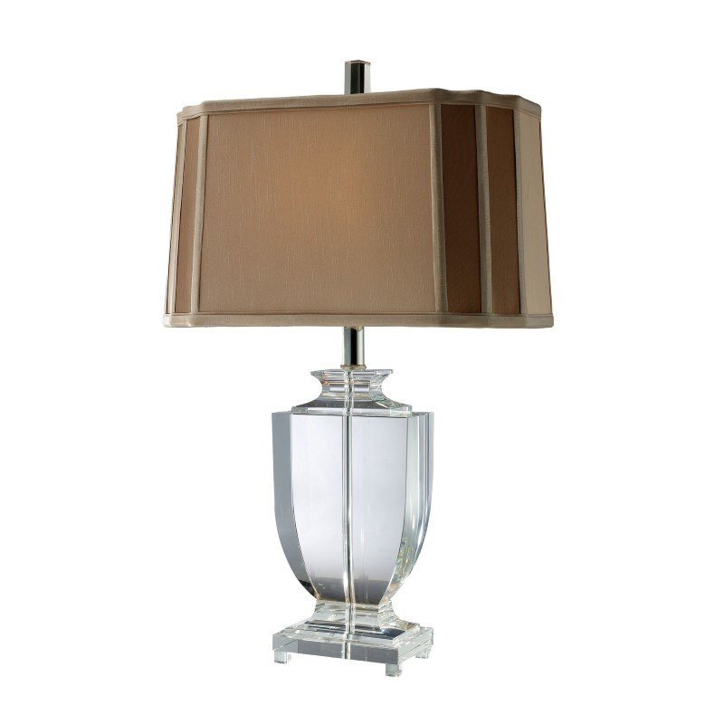 Dimond Lighting Layfette Table Lamp In Clear Crystal With Cream And Taupe Shade (D1814)