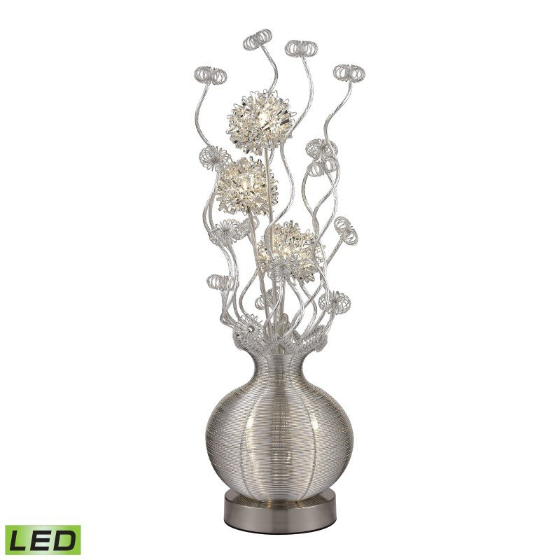 Dimond Lighting Lazelle Contemporary Floral Display Floor Lamp In Silver (D2717)