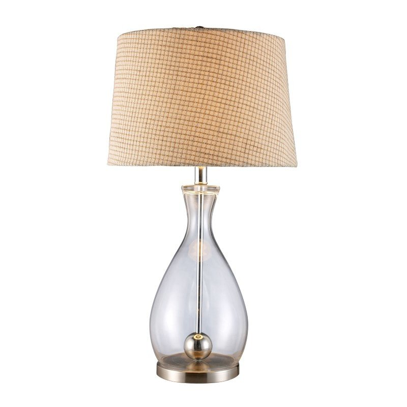 Dimond Lighting Longport Table Lamp In Clear Glass And Chrome With Linen Shade (D1975)